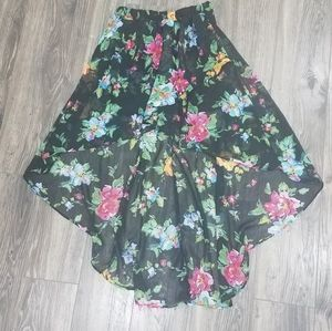 Joe Benbasset floral hi-low skirt